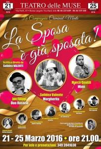 LA SPOSA E' GIA' SPOSATA – 5 repliche al Teatro delle Muse